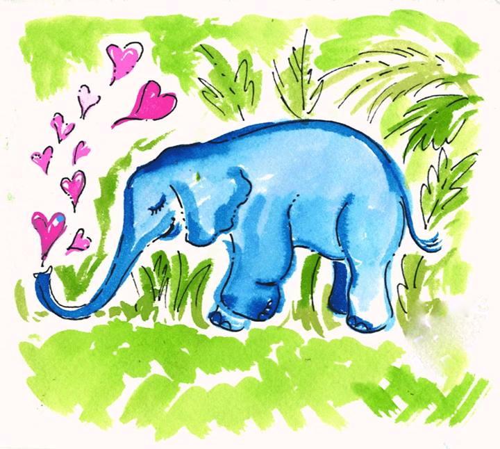 Lilly Pulitzer Elephant Print Agenda